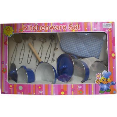 Rosalina RSCH1616 13 Piece Stainless Cooking Ware Set, Blue