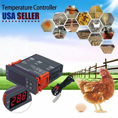 Usa Lcd Digital 24v Stc-1000 Temperature Controller Thermostat Regulatorsensor