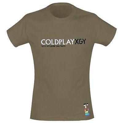COLDPLAY - Light Will Guide You Home - Girlie Girl Damen Shirt - Größe Size S