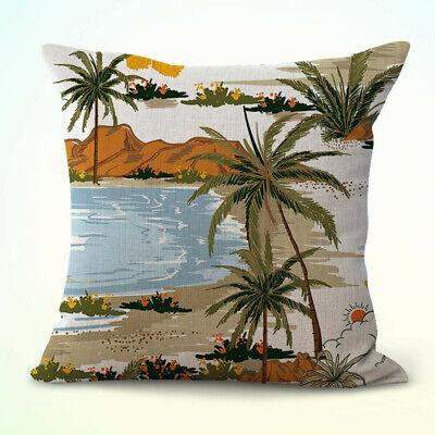 US Seller- tropical island palm tree panorama decorative throw pillow (Island Throw Pillow)