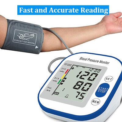 Automatic High Blood Pressure Monitor BP Cuff Gauge Heart Rate Machine US Stock