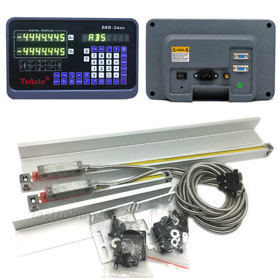 200350mm 2 Axis Linear Scale Dro Digital Readout Display Bridgeport Knee Mill