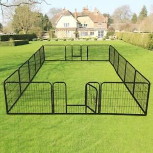 16 Panel Heavy Duty Metal Cage Crate Pet Dog Cat Fence Exercise Playpen Kennel - NEW - FREE SHIPPING