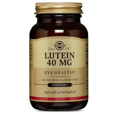 Solgar Lutein 40 mg 30 Softgels FRESH Made In USA, FREE US S