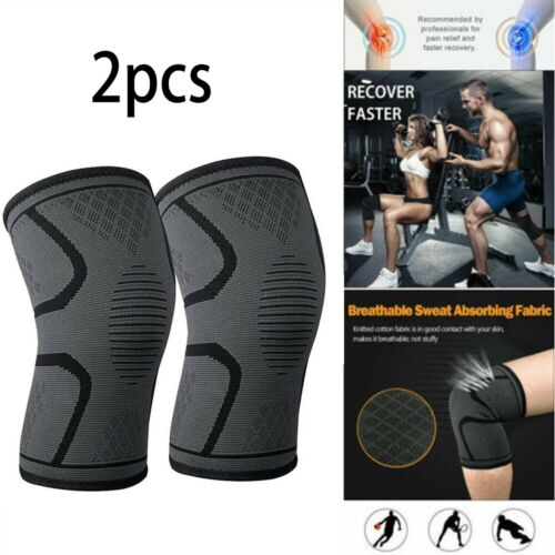 1/2X Knee Sleeve Compression Brace Support For Sport Joint P