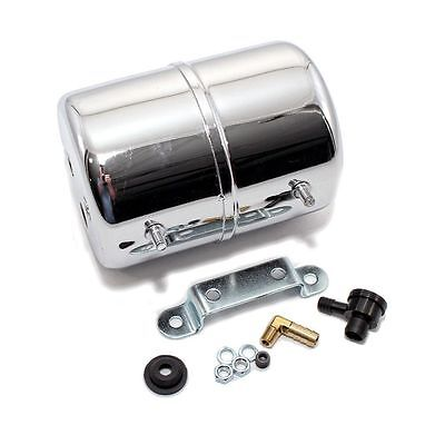 Chrome Vacuum Reservoir Brake Booster Canister with Check Valve and Hardware, used for sale  Columbia Station