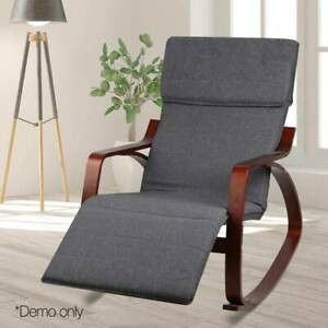 Fabric Rocking Armchair/Adjustable Footrest - FREE DELIVERY