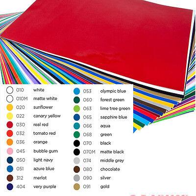 "24 Sheets Sign Vinyl Self Adhesive, Craft Cutter Cameo Cricut - 12""x24"" Each NEW"