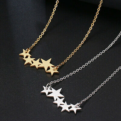 Silver Gold Star Necklace Chain Pendant Choker Statement Necklaces Gift Jewelry ](Gold Star Jewelry)