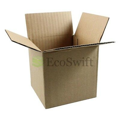 5 4x4x4 Cardboard Packing Mailing Moving Shipping Boxes Corrugated Box Cartons