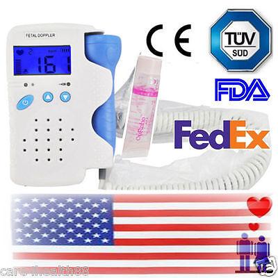 Cefda Lcd 3mhz Fetal Doppler Fetal Heart Monitor Pregant Baby Heart Rategel Us