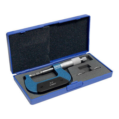 0-1 Inch Blade Outside Micrometer Solid Metal Frame Graduation .0001 Inch