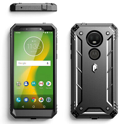 For Moto E5 Plus | Poetic [Dust Resistant] Rugged Shockproof Case Cover Black for sale  Shipping to India