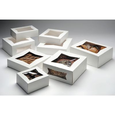 Bakery Box With Window White Paper - 9 Sq X 2 12 D 200 Per Case