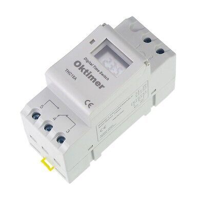 Din Rail Digital Programmable 220vac 16a Timer Switch