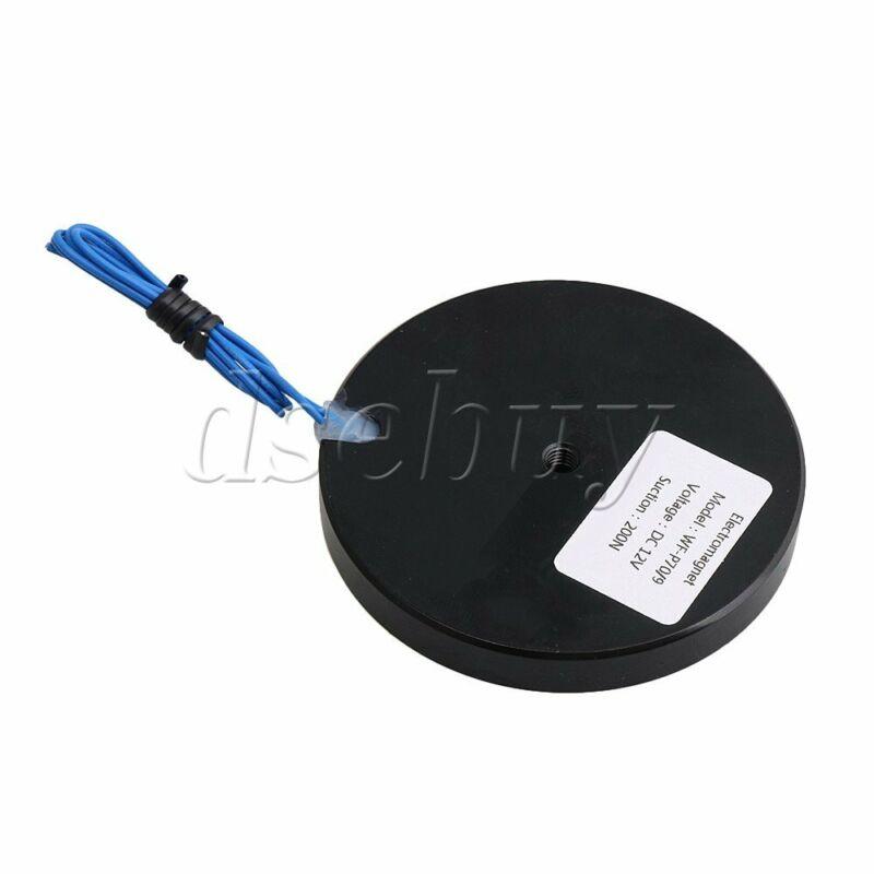 Lifting Magnet Electromagnet Solenoid Lift Holding 12V 20KG Black