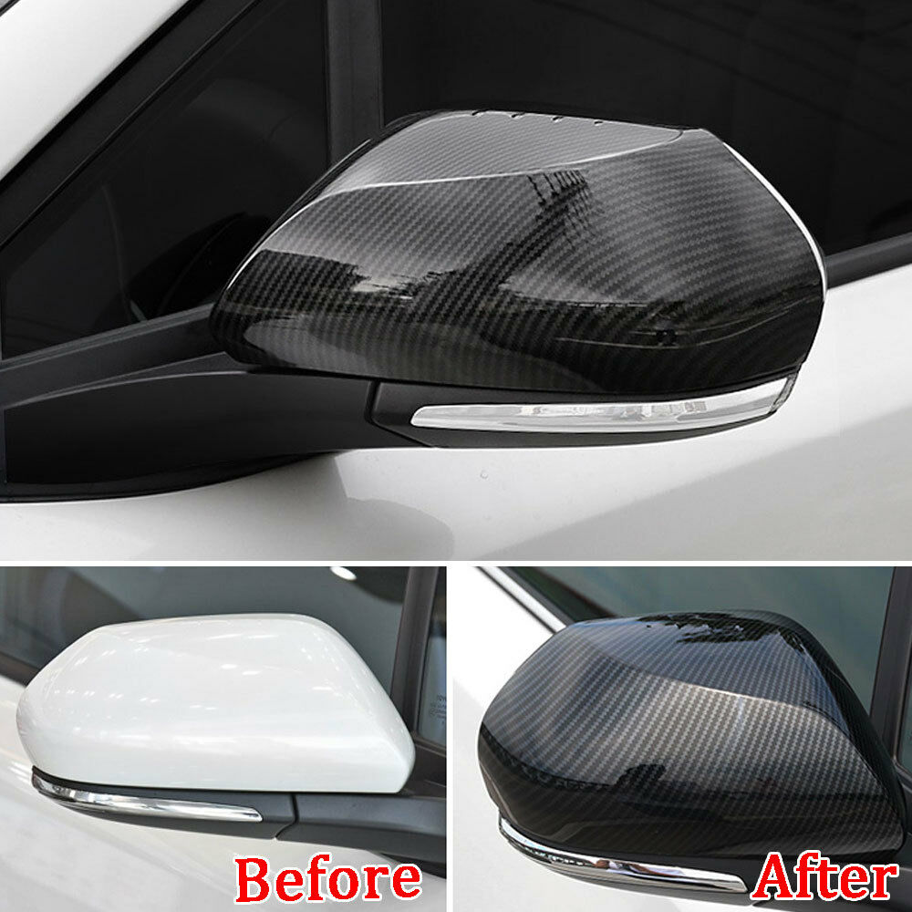 For Toyota C-HR CHR 2018 Carbon Fiber Style Car Rearview Wing Mirror Cover Trim