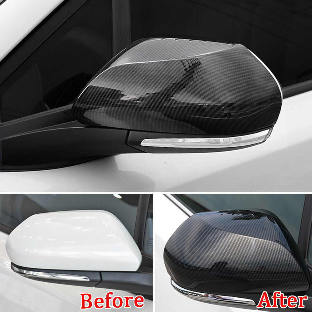 Car Door Side Rear View Wing Mirror Cover Trim Chrom ABS For Toyota C-HR CHR 16+