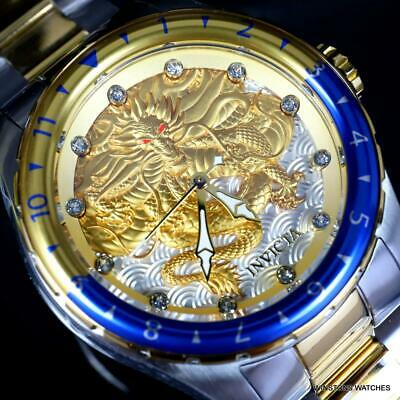 Invicta Speedway Dragon Automatic 2 Tone Gold Stainless Steel 52mm Watch New