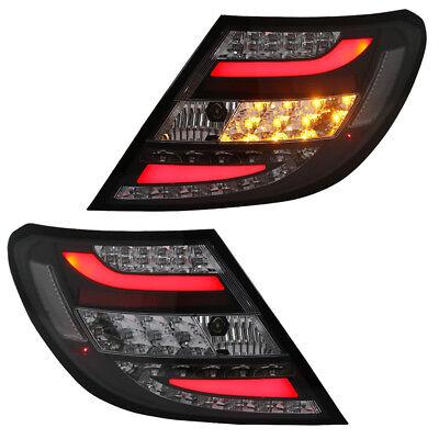 LED Lightbar Rückleuchten Heckleuchten Mercedes C-Klasse W204 Bj. 07-11 Schwarz