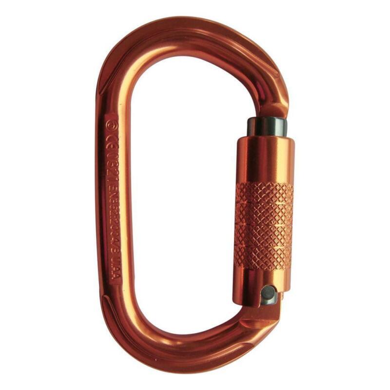 US Rigging Supply USR-127-A3TU ProClimb True Oval Triple-Locking Alum Carabiner