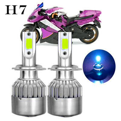H7 LED Headlight Bulbs For Yamaha YZF-R6 2003-15 YZF-R1 2007-14 8000K Ice Blue