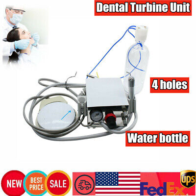 Us- Portable Dental Turbine Unit For Air Compressor 4hole Water Bottle Equipment