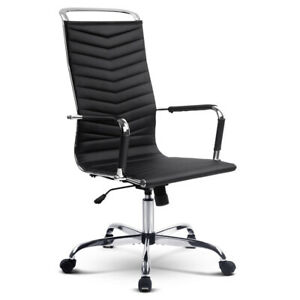 Eames Replica PU Leather Office Chair Executive High Back Black