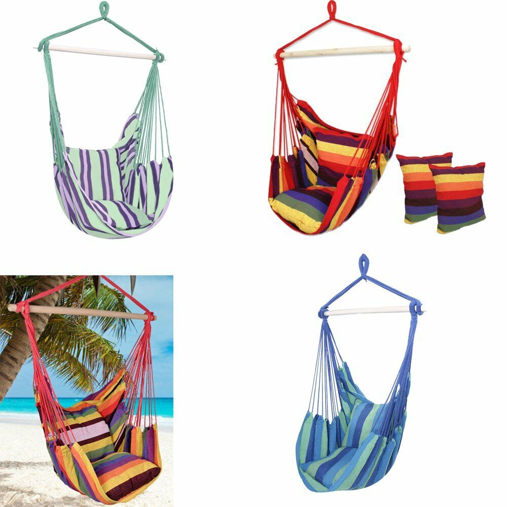Hanging Rope Chair Swing Hammock Outdoor Porch Patio Yard  C