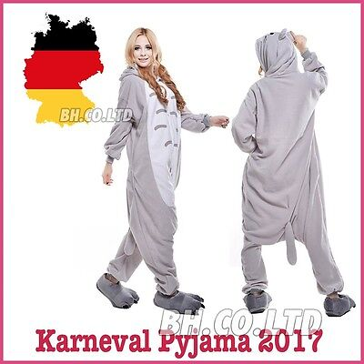 Hot Sell Kigurumi Pyjamas Anime Cosplay Kostüm Unisex Adult Party Totoro Kleid