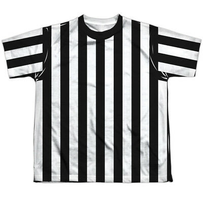 REFEREE SHIRT COSTUME Kids Front Print Tee Shirt SM-XL BOYS SZ 6-20 Halloween