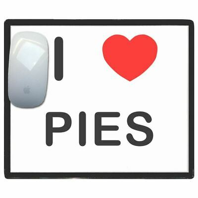 I Love Heart Pies - Thin Pictoral Plastic Mouse Pad Mat Badgebeast