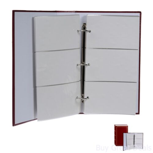 4x6 Photo Album 3 Ring Pockcet Storage Case Picture Book Holds 504 Burgundy New
