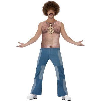 Smi - Herren Kostüm Shirt 70er Jahre Brusthaar Karneval - Kostüm Brust Shirt