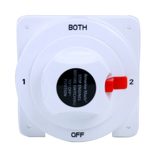 BATTERY SELECTOR SWITCH White Distribution Marine Boat Battery Switch -BM
