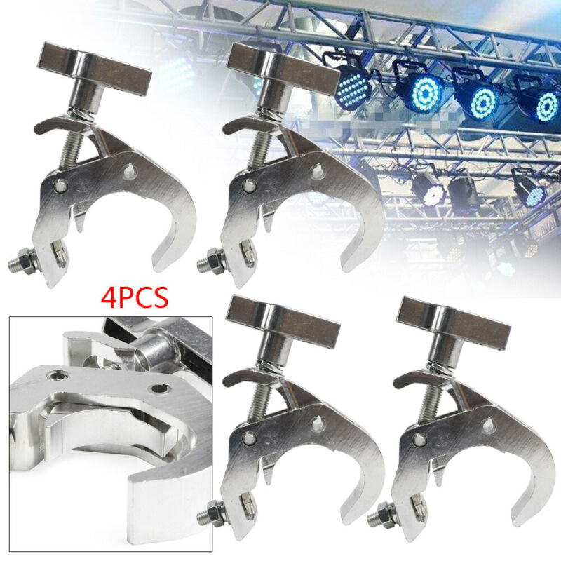 4 Pcs Alu alloyTruss O Clamps Stage Lighting Mount  Load 330lb Fit 38-52mm Pipe