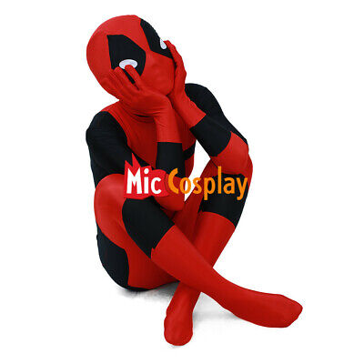 Red Jumpsuit Halloween Costume (Deadpool Kids Cosplay Costume Halloween Boys)