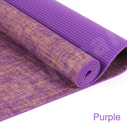Premium Natural Linen Jute Yoga Mat Eco Friendly Exercise Fitness Gym Pilates AU