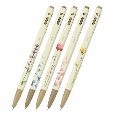 Ballpoint Pen - 153 Flower Edition (0.5mm) Black Color Set of 5 By Monami