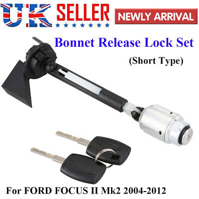 BONNET RELEASE LOCK LATCH CATCH COMPLETE For FORD FOCUS MK2 2004 2012 C MAX KUGA