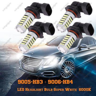 Combo 9005 Hb3   9006 Hb4 Led Headlight Bulb Super White 63 Smd 6000K Hi Lo Beam