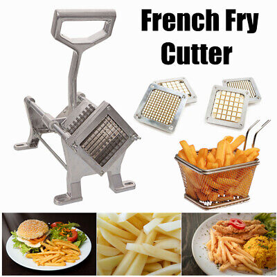 Aluminum Alloy French Fry Cutter Potato Vegetable Slicer Chopper W2 Blades Us