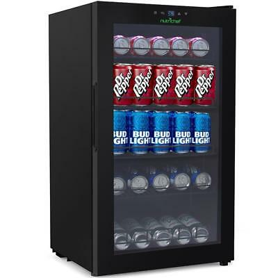 Compact Fridge Cooler - Can Beverage Chiller Refrigerator 132 Can Cap- PKTEBC80 Beverage Cooler Compact Refrigerator