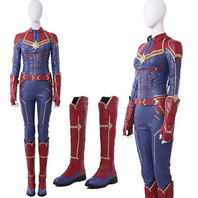 Captain Marvel Costume Carol Danvers Cosplay Costume Adult Women Cosplay Costume