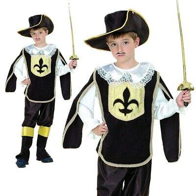 Musketier Kostüm Jungen Französisch Kavalier Buch Woche Tag Kostüm Outfit - Französische Kostüm Kinder