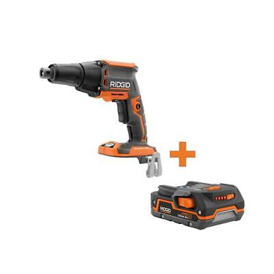 Ridgid Electric Screwdriver Cordless Hex Brushless Lithium Ion Orange 18 Volt