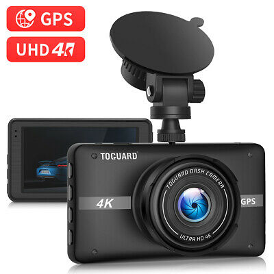 TOGUARD 4K Dash Cam Built-in GPS Dash Camera Cars Recorder Car Dashboard Camera