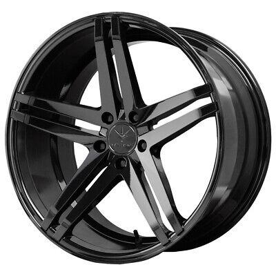 "4-Verde V39 Parallax 22x9 5x120 +35mm Black Wheels Rims 22"" Inch"