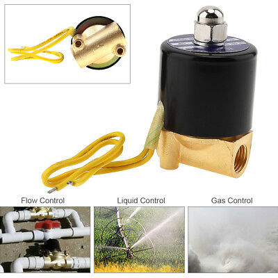110v Electric Solenoid Valve Pneumatic Valve Brass Body For Water Oil Brass