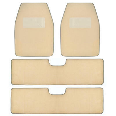 BDKUSA 3 Row Best Quality Carpet Floor Mats for SUV Van - Light Beige -